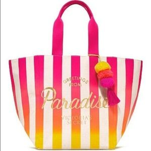 Victoria's Secret Colorful Beach Tote Bag